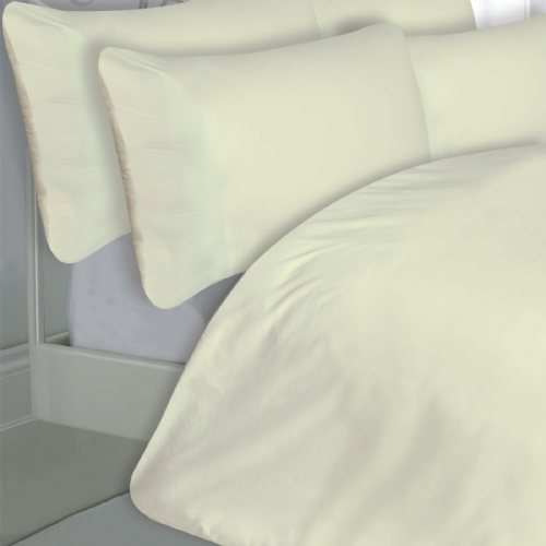 CREAM COLOUR 200 THREAD COUNT LUXURY QUALITY EGYPTIAN COTTON BEDDING DUVET SET